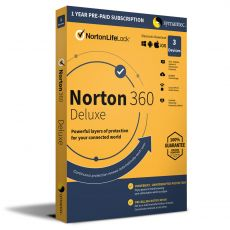 Norton 360 Deluxe, Runtime: 1 Year, Device: 3 Devices, image